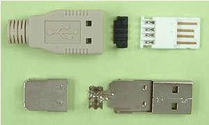 USBコネクタAタイプ。どの店にいってもこれしか売ってない。色もこれだけ。